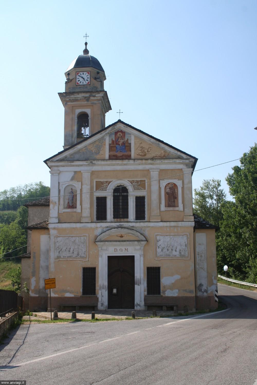 Mombarcaro, Confraternita Madonna della Neve o San Luigi facciata esterna 2. <span class='photo-by'>Photo: DDF.</span>