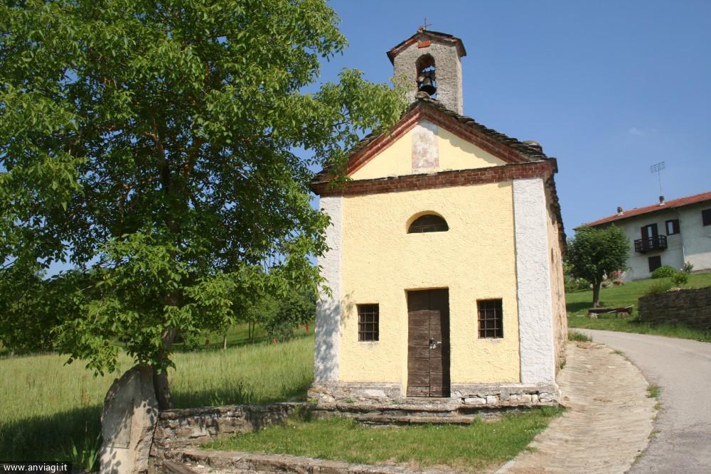 La cappella di San Rocco in frazione Cadilù a San Benedetto Belbo. <span class='photo-by'>Photo: Diego De Finis.</span>